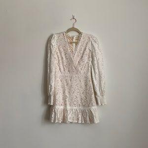 Just Me S white long sleeved dress